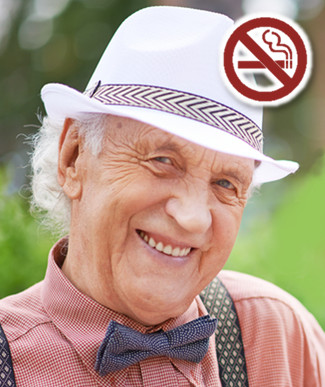 Life insurance rates for a male, 70+ years old, non-smoker